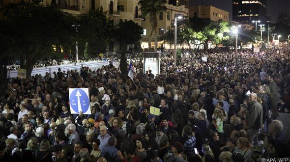 Prosteste in Israel gegen Premier Netanjahu
