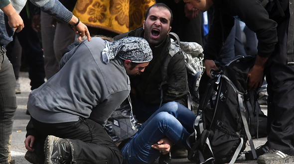 Zusammenstöße zwischen Flüchtlingen und bosnischer Polizei