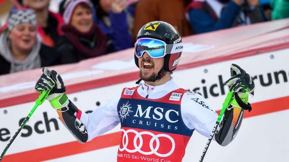 Marcel Hirscher gewinnt zum ersten Mal den Slalomklassiker von Wengen