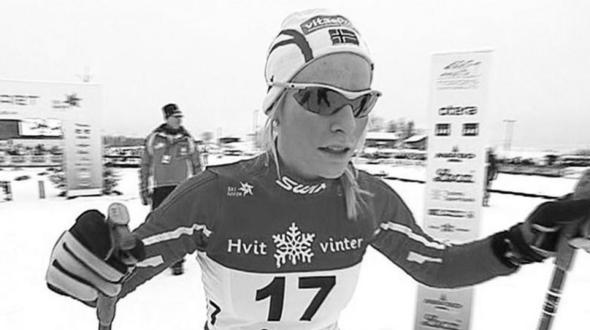 Norwegische Langläuferin