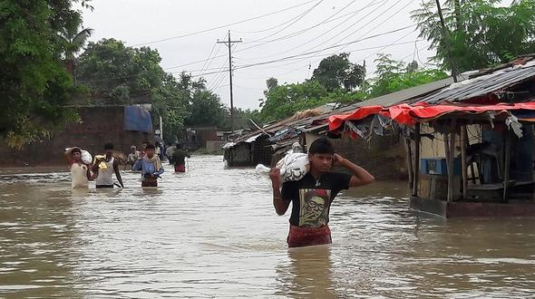 Dutzende Tote bei Überschwemmungen nach Monsunregen