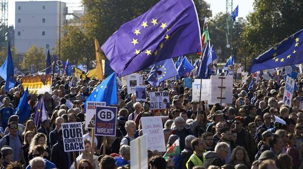 Mega-Demonstration in London für zweites Brexit-Referendum