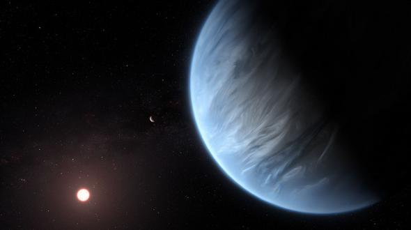 Forscher finden erstmals Wasser auf bewohnbarem Exoplaneten