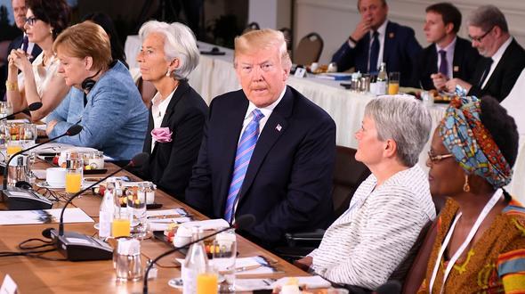 Beim Gipfel kam es zu einer Einigung zwischen US-Präsident Donald Trump und den sechs weiteren Mitgliedsstaaten