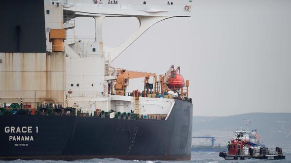 Die Führung in Teheran verlangt von Großbritannien die sofortige Freigabe des vor Gibraltar festgesetzten iranischen Tankers. Hier eine Aufnahme des Tankers vom 6. Juli