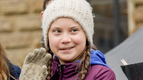 Greta Thunberg am Karfreitag in Rom