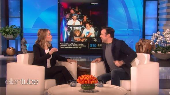 Jason Sudeikis und Olivia Wilde in der The Ellen Show. - Foto: Screenshot