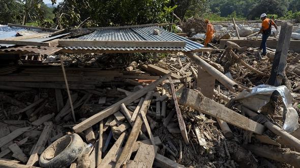 Tote nach Schlammlawine in Kolumbien