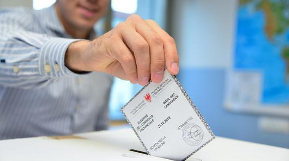 Stimmenverluste bei Volkspartei in Südtirol
