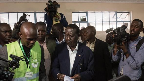 Der Oppositionsführer Raila Odinga hatte seine Niederlage bei der Präsidentenwahl vor Gericht angefochten