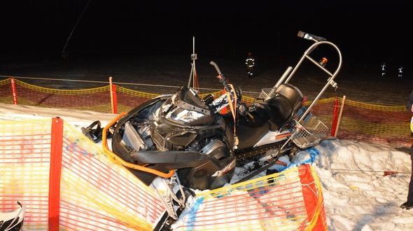 Bei dem Skidoo Unfall wurde eine Frau schwerstens verletzt