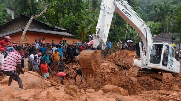 Sri Lanka: Mehr als 90 Tote nach Erdrutschen in Sri Lanka