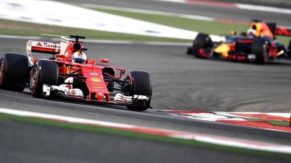 Siegreich Sebastian Vettel