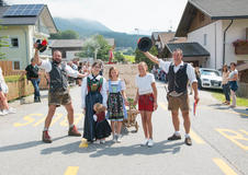 Traditionelles Dorffest in Taisten