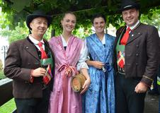 Traditionelles Herbstfest in Dorf Tirol